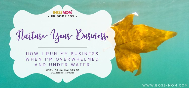 Episode 105: Nurture Your Business: How I Run My Business When I'm Overwhlemed and Under Water with Dana [Podcast]